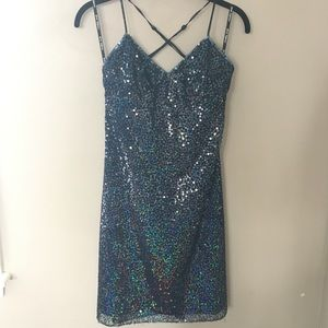 Gorgeous Betsey Johnson Sequin Dress-Like New!